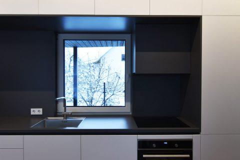 Modernaus stiliaus virtuvės ir namų projektas